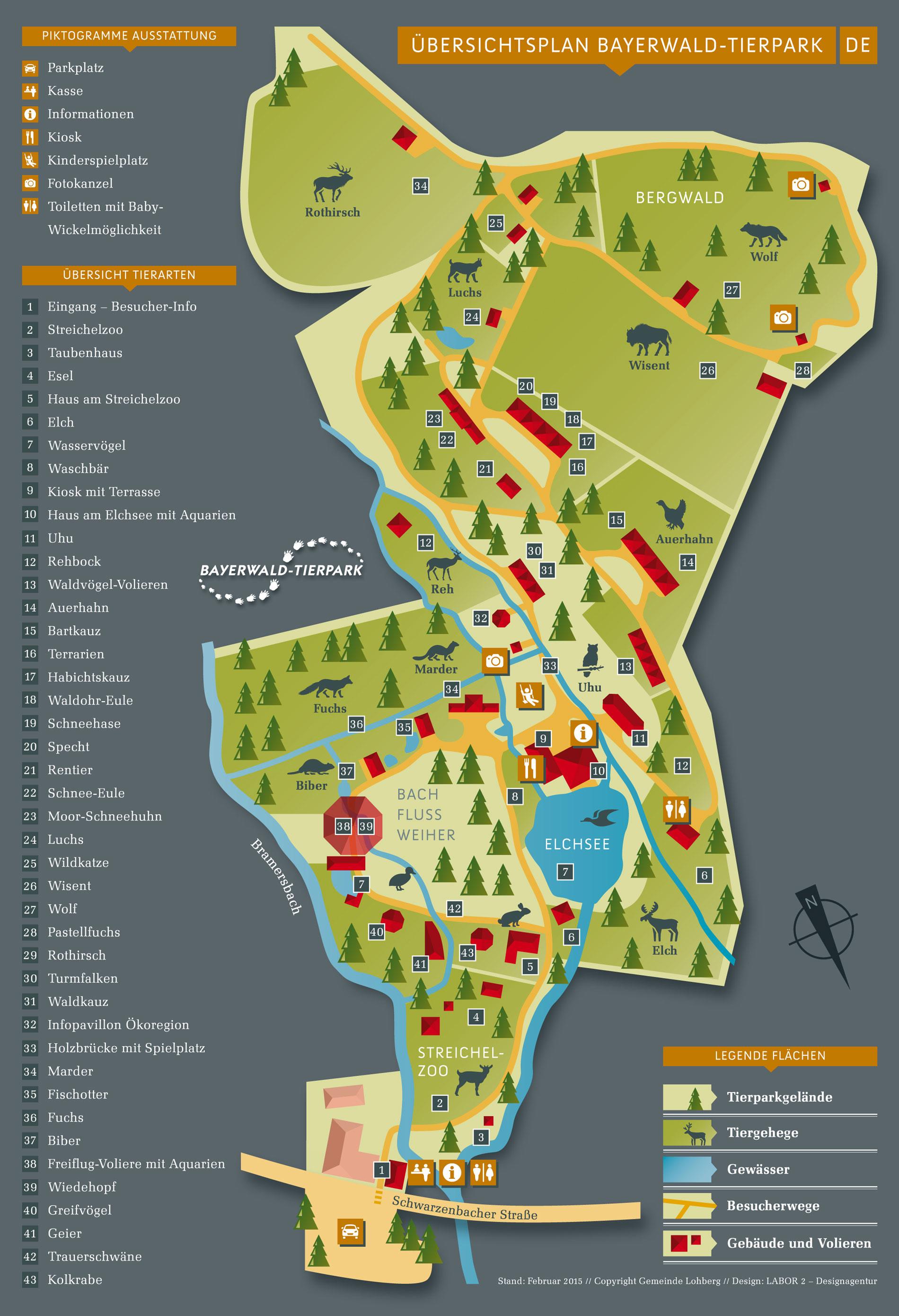 Plattegrond Bayerwald-Tierpark Lohberg (2016)